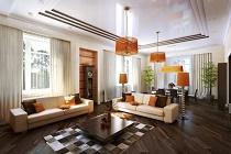 Советы и правила по обустройству освещения в гостиной загородного дома