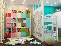 Зонирование детской комнаты: этапы и особенности